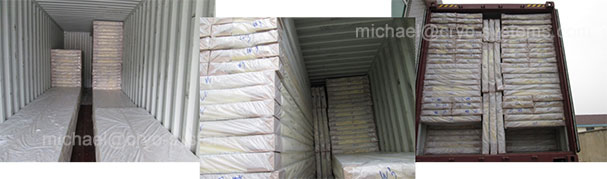 container loading for cold room panel