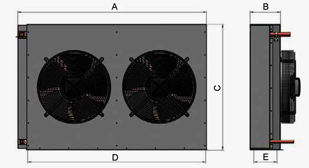 walk in cooler condenser FN-diagram