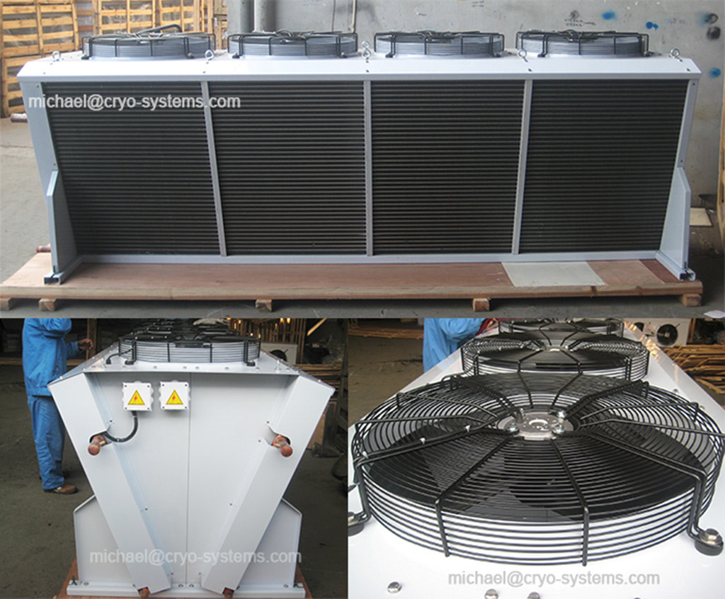 Refrigeration Condenser With External Fans Cryo Systems