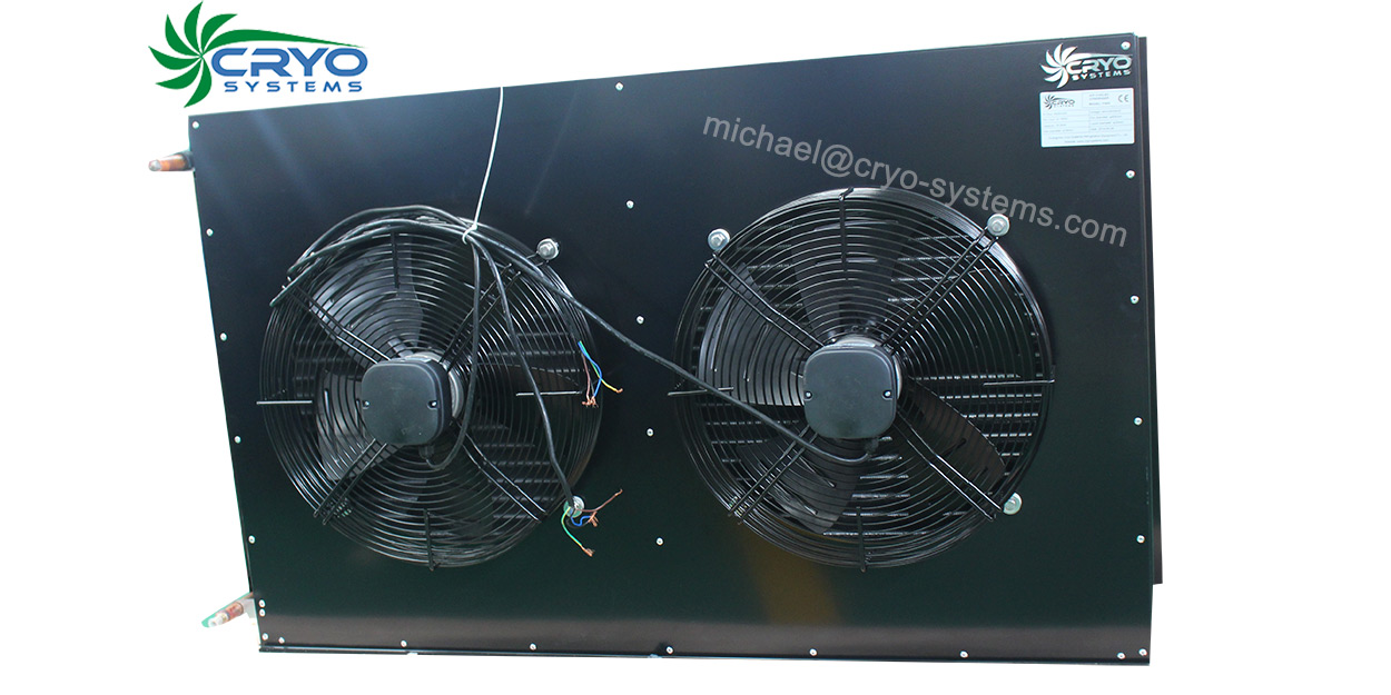 Air Cooler Condenser : Air cooled condenser with two fans cryo systems