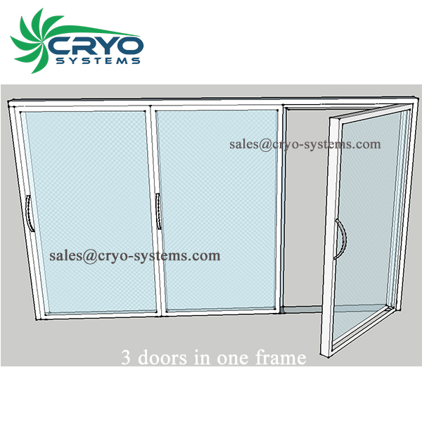 glass door for cold storage