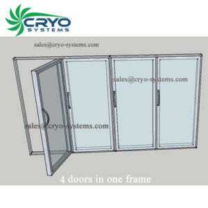 glass door for cold room